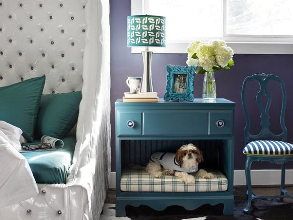 DIY nightstand and dog bed