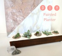 DIY painted planter project