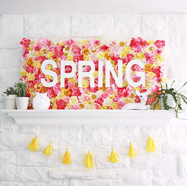 view in gallery diy spring floral sign - Spring Party Decorating Ideas