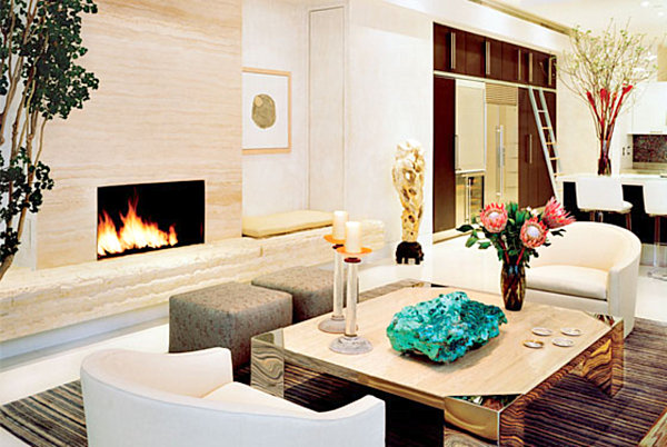 Decadent living room with '80s style