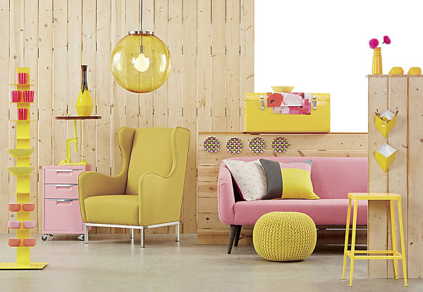 Decor in shades of yellow and pink The Power Of Pastels: Stylish New Finds In Soft Hues