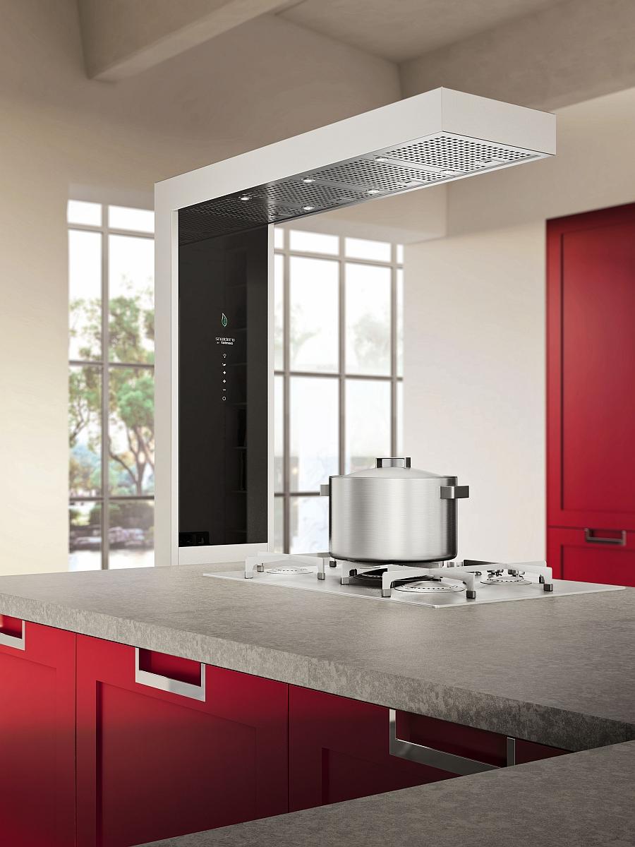 Exquisite Italian kitchen in red