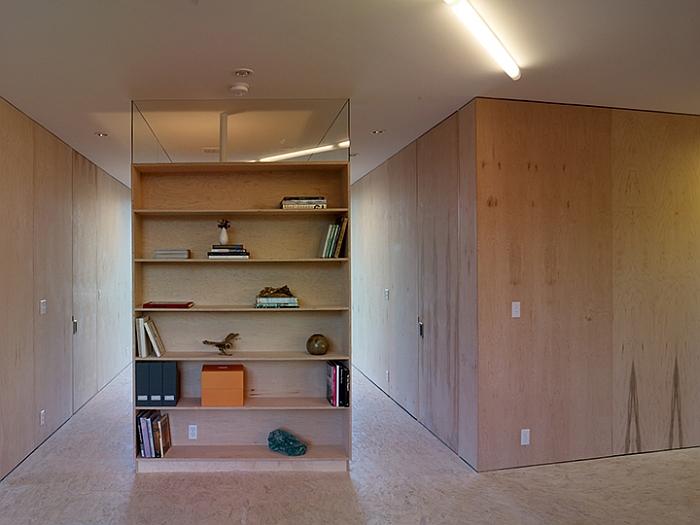 Exquisite and minimal interior in wood