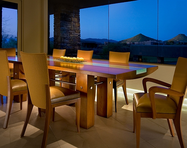 Exquisite dining table with a contemporary flair
