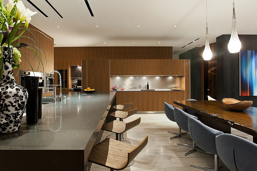 Exquisite kitchen and dining area