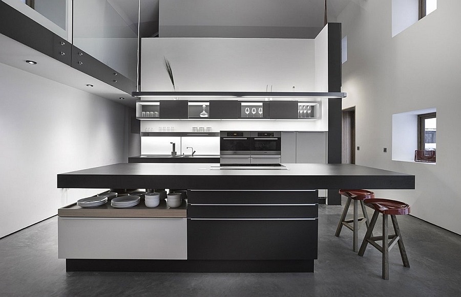 Exquisite kitchen with minimalist design