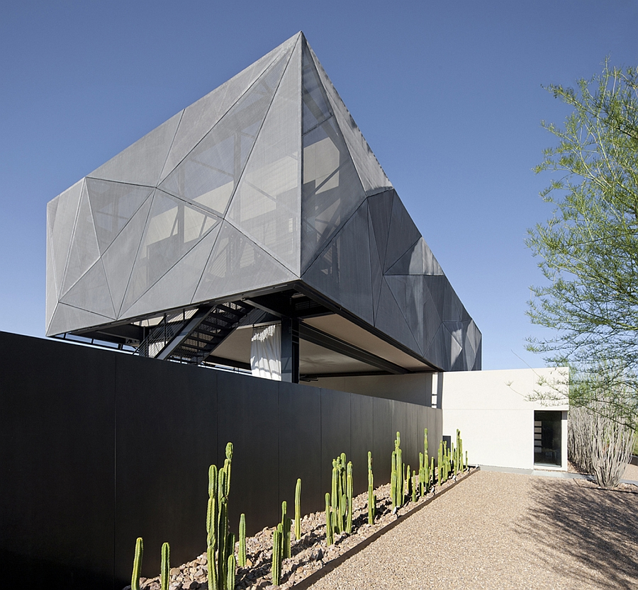 Exterior of the modern desert home