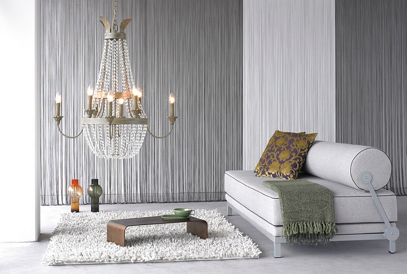 Fabric used to create textured wall in a minimal fashion Hot Interior Design Trends For Spring 2014