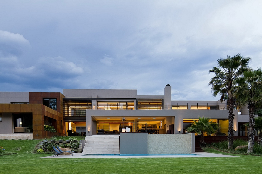 Facade of Sed in Johannesburg South Africa Dramatic Contemporary Residence Amazes With Stunning Design And Decor
