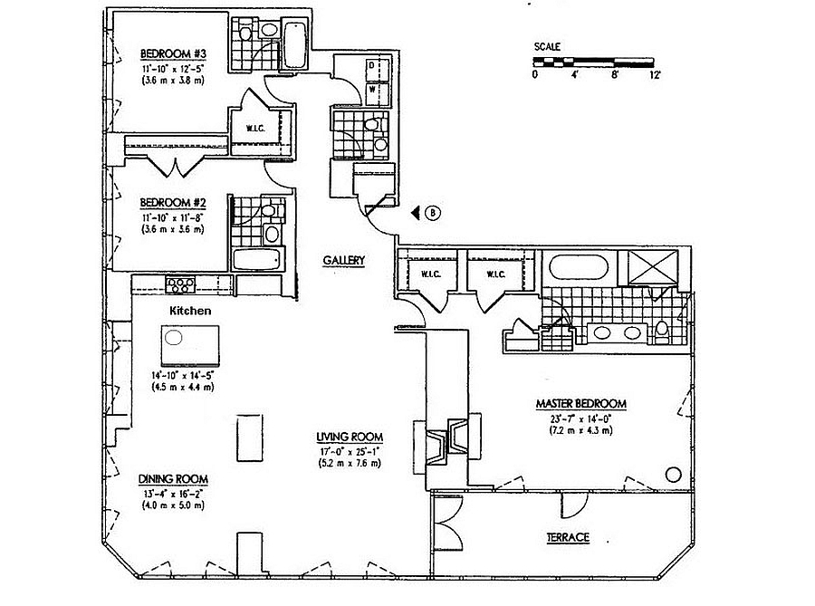 Floor plan of the Milan Penthouse in New York City