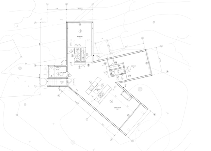 Floor plan of the inventive California House