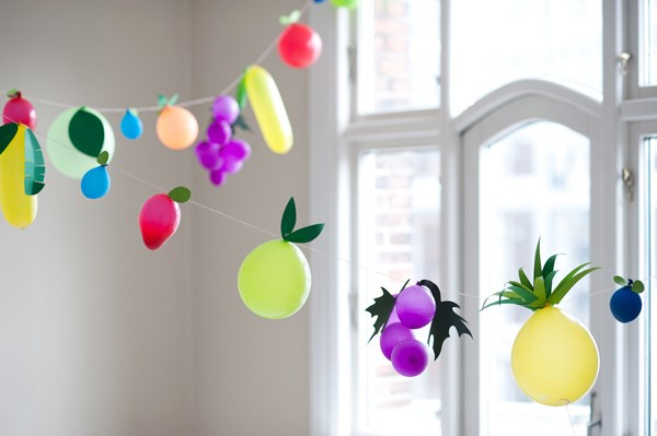 view in gallery fruit balloom garland - Spring Party Decorating Ideas