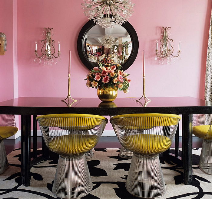 Fun way to add some color to the dining room