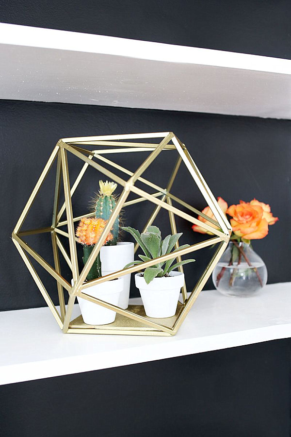 Gold geometric planter