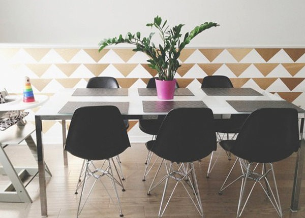 furniture contact paper. View In Gallery Gold Triangle Wall DIY Project Furniture Contact Paper I
