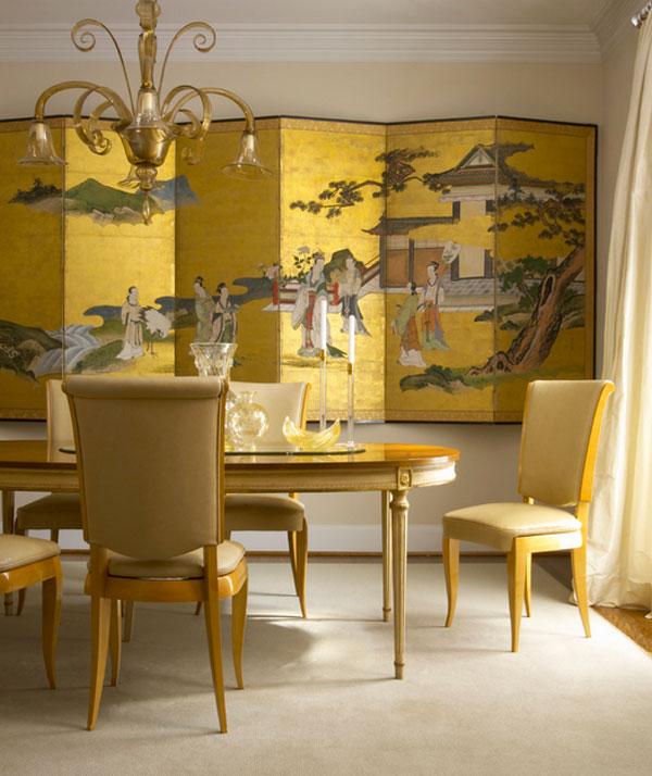 Gold wall art for elegant homes Elegant Decor Ideas Featuring Inspiration From Asia
