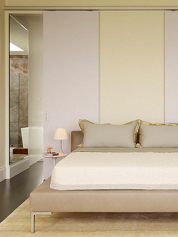 Golden tones in a sleek bedroom