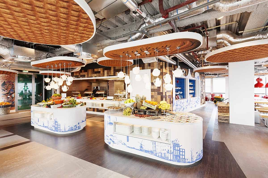 Google Amsterdam Office Kitchen looks like a scene from Alice in Wonderland!