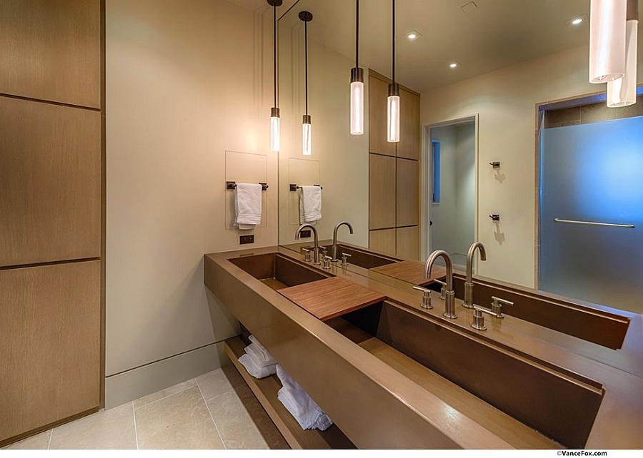 Gorgeous bathroom vanity in wood