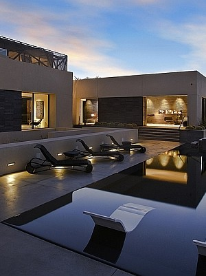 Gorgeous deck space of Desert House in Vegas