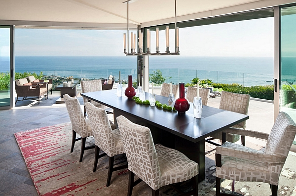 Gorgeous dining room brings the outdoors inside
