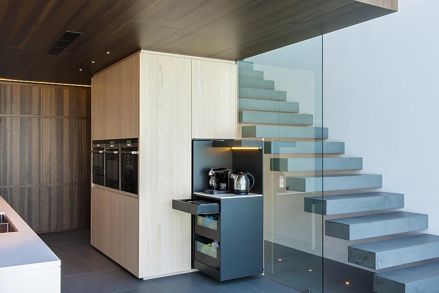 Gorgeous hidden breakfast unit on display
