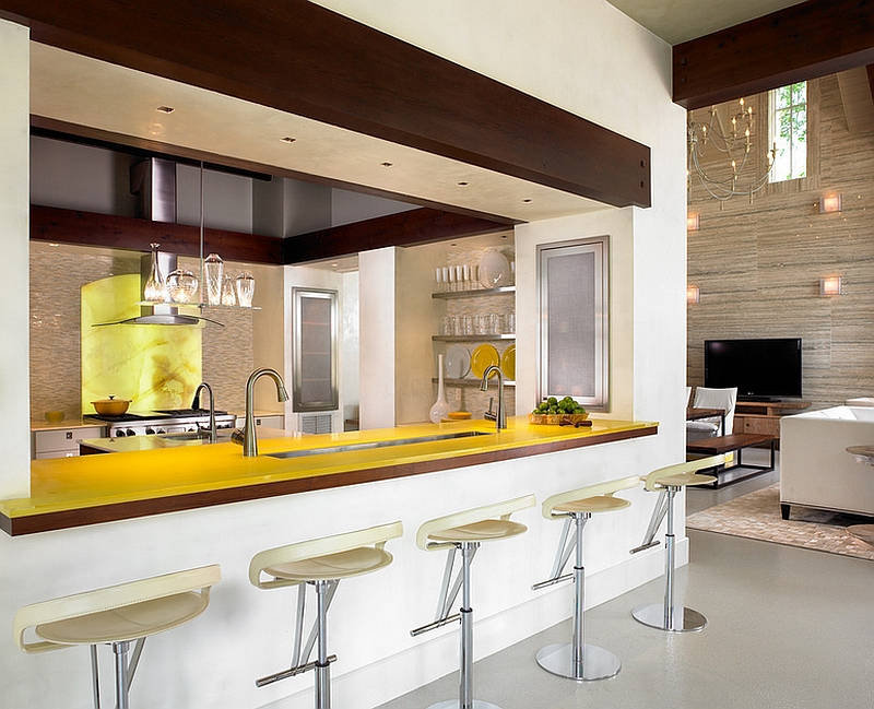 Gorgeous kitchen in yellow and cream