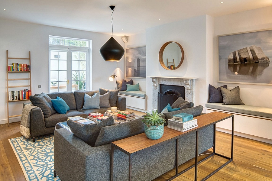 english home design. View in gallery Gorgeous living room with plush sofa gray Exuberant English Home Delights With A Colorful And Original Interior