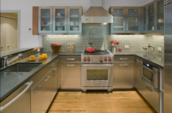 Stainless steel kitchens ideas inspiration pictures for Stainless steel kitchen designs