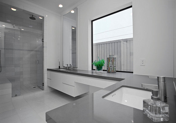 Gray Bathroom Ideas Interior Design ~ Bathrooms that showcase minimalist design
