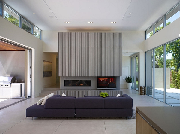 Grey adds sleek spohistication to the room