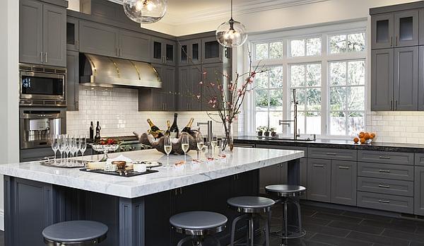 Grey in the kitchen is one of the hottest color trends of the year