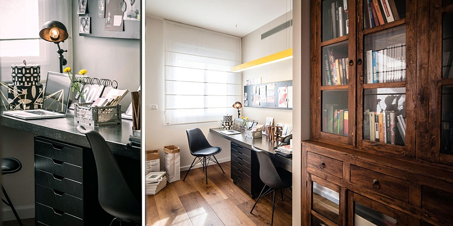 Home office with a sleek workstation