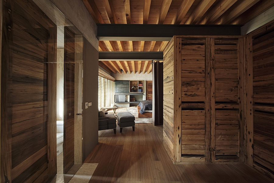 Interior clad in wood