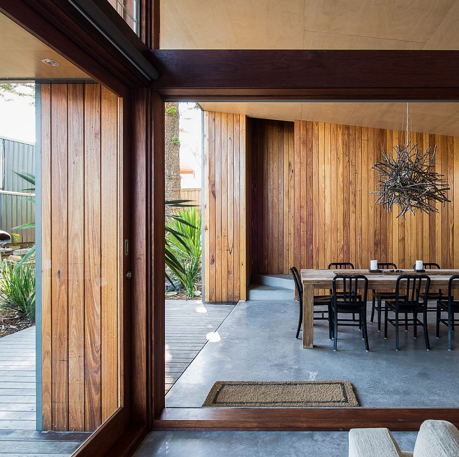 view in gallery interior clad in wood - 70s Home Design