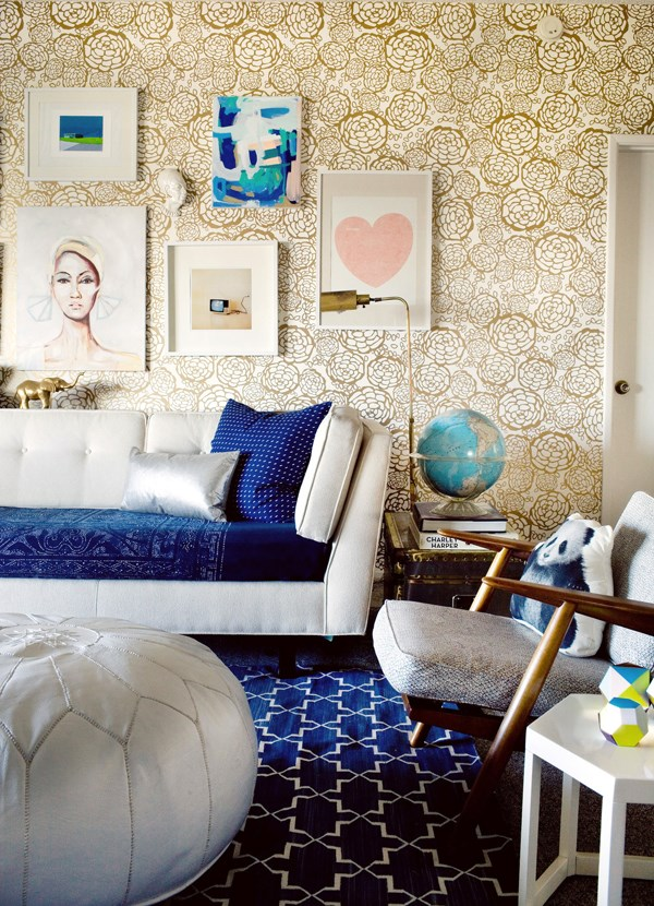 Kid-friendly living room of blogger Joy Cho, designed by Emily Henderson