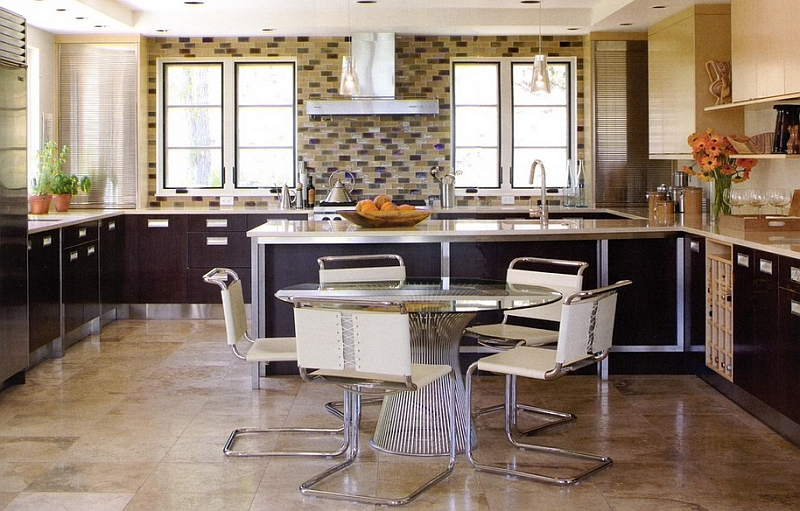 Knoll Spoleto Chairs used alongside the Platner dining table