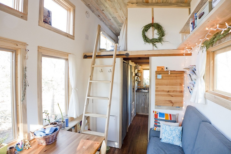 Ladder leading to the loft space