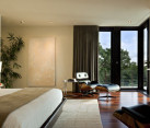 Large plants in a modern bedroom