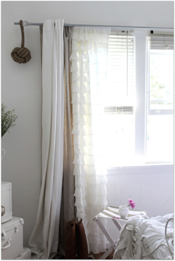Layered sheer curtains