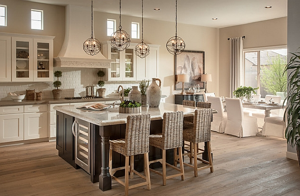 Light and airy kitchen with an organic vibe