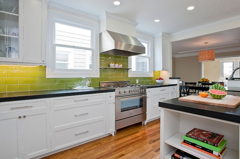 View In Gallery Lighting Creates The Ombre Effect In This Kitchen Backsplash