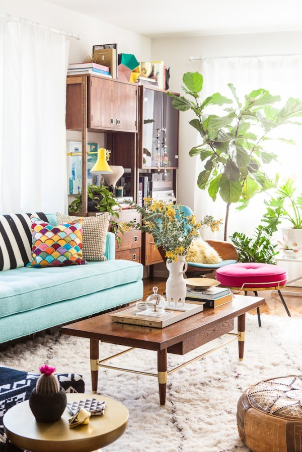 Living room of blogger Bri Emery, designed by Emily Henderson