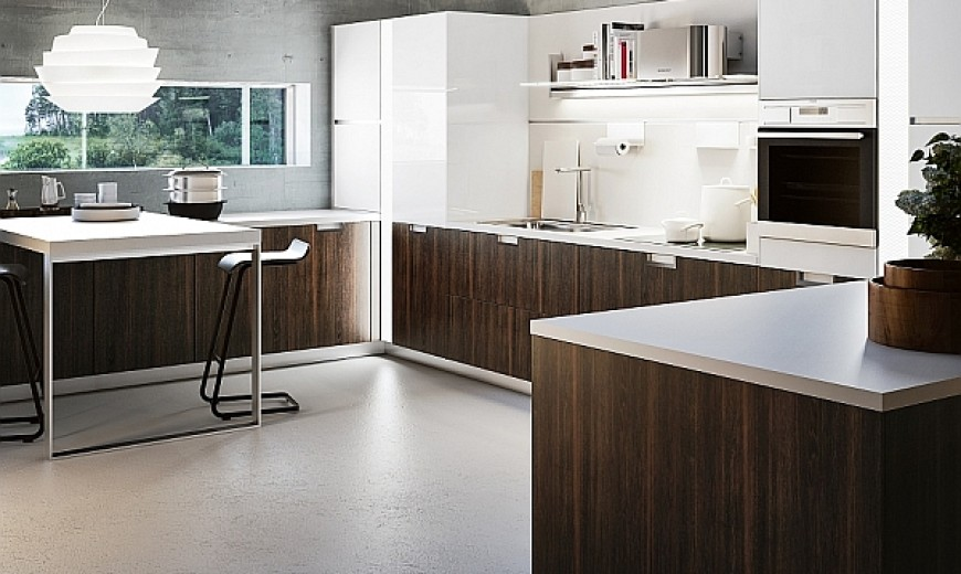 Sleek And Functional Italian Kitchen Exudes Radiant Charm