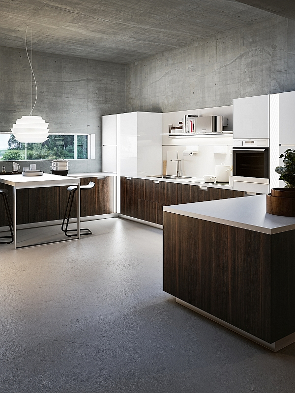 Sleek and functional italian kitchen exudes radiant charm for Snaidero kitchen