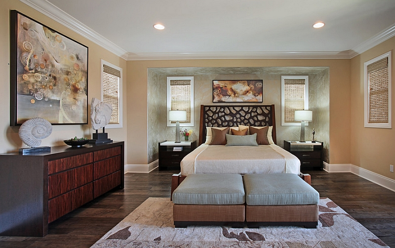 Luxurious and serene master bedroom