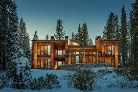 Mountain Retreat Near Lake Tahoe Radiates Cozy Brilliance