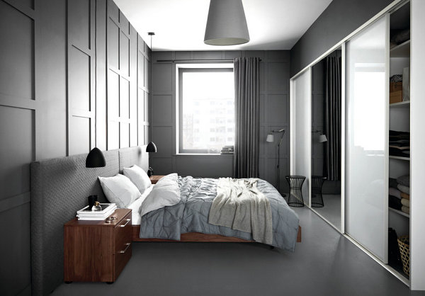 Master bedroom with statement lighting 20 Master Bedrooms With Creative Style Solutions