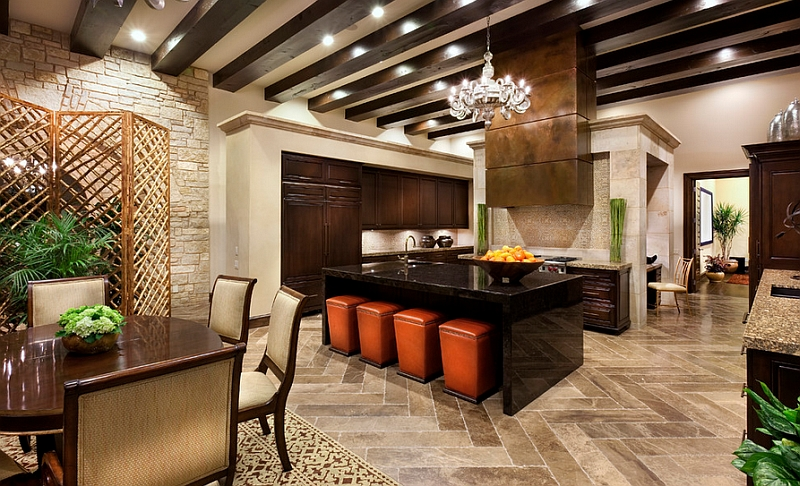 Mediterranean kitchen with a relaxed ambiance