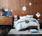 Mid-century style bedroom from West Elm